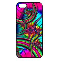 Abstract Neon Fractal Rainbows Apple Iphone 5 Seamless Case (black) by StuffOrSomething