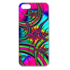 Abstract Neon Fractal Rainbows Apple Seamless Iphone 5 Case (clear) by StuffOrSomething