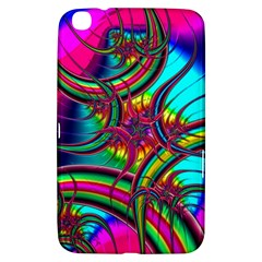 Abstract Neon Fractal Rainbows Samsung Galaxy Tab 3 (8 ) T3100 Hardshell Case  by StuffOrSomething