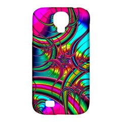 Abstract Neon Fractal Rainbows Samsung Galaxy S4 Classic Hardshell Case (pc+silicone) by StuffOrSomething