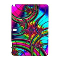 Abstract Neon Fractal Rainbows Samsung Galaxy Note 10.1 (P600) Hardshell Case