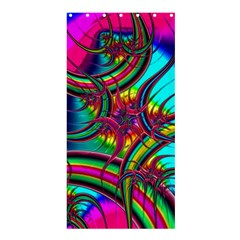 Abstract Neon Fractal Rainbows Shower Curtain 36  X 72  (stall) by StuffOrSomething
