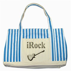 Irock Blue Striped Tote Bag by SaraThePixelPixie