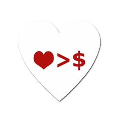 Love Is More Than Money Magnet (heart) by dflcprints