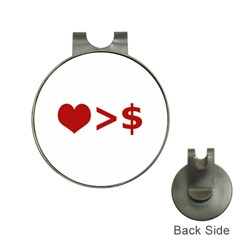 Love Is More Than Money Hat Clip With Golf Ball Marker by dflcprints