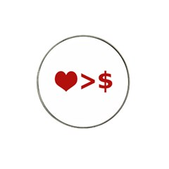 Love Is More Than Money Golf Ball Marker (for Hat Clip) by dflcprints