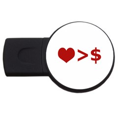Love Is More Than Money 4gb Usb Flash Drive (round) by dflcprints
