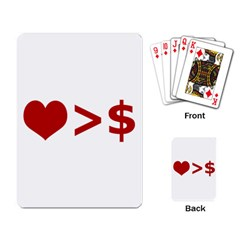 Love Is More Than Money Playing Cards Single Design by dflcprints