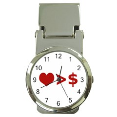 Love Is More Than Money Money Clip With Watch by dflcprints