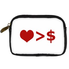 Love Is More Than Money Digital Camera Leather Case by dflcprints