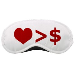 Love Is More Than Money Sleeping Mask by dflcprints