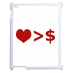 Love Is More Than Money Apple Ipad 2 Case (white) by dflcprints