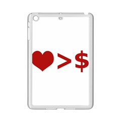 Love Is More Than Money Apple Ipad Mini 2 Case (white) by dflcprints