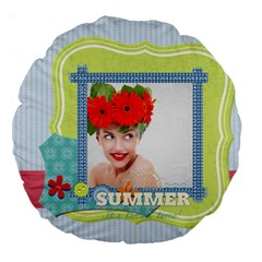 Summer By Summer Time    Large 18  Premium Round Cushion    Np6cbgv60r3q   Www Artscow Com Front