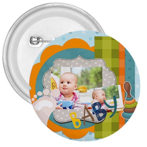 Baby By Baby   3  Button   3m10rcllybv5   Www Artscow Com Front
