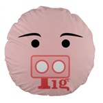 pig - Large 18  Premium Round Cushion