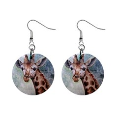 Giraffe Mini Button Earrings
