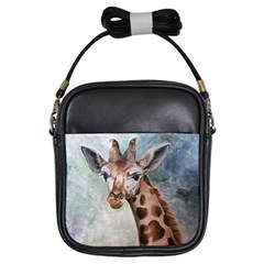 Giraffe Girl s Sling Bag by ArtByThree