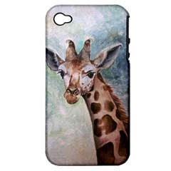 Giraffe Apple Iphone 4/4s Hardshell Case (pc+silicone) by ArtByThree