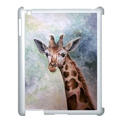Giraffe Apple Ipad 3/4 Case (white) by ArtByThree