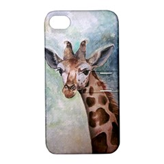 Giraffe Apple Iphone 4/4s Hardshell Case With Stand by ArtByThree