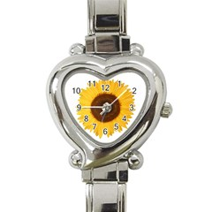 Sunflower Heart Italian Charm Watch  by sdunleveyartwork