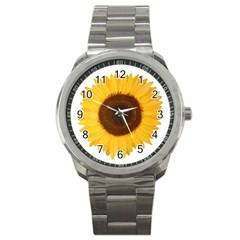 Sunflower Sport Metal Watch by sdunleveyartwork