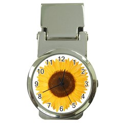 Sunflower Money Clip With Watch by sdunleveyartwork