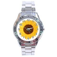 Sunflower Stainless Steel Watch by sdunleveyartwork