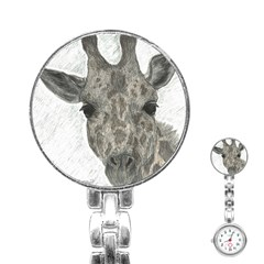 Giraffe Stainless Steel Nurses Watch by sdunleveyartwork
