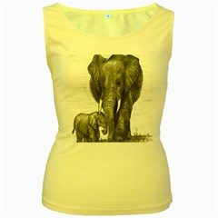 Elephant Women s Tank Top (yellow) by sdunleveyartwork