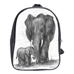 Elephant School Bag (xl) by sdunleveyartwork