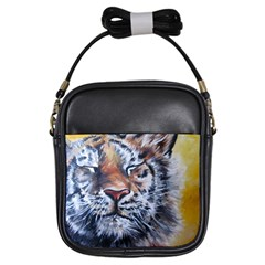 Tiger Girl s Sling Bag by ArtByThree