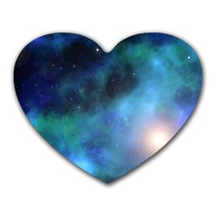 Amazing Universe Mouse Pad (heart) by StuffOrSomething