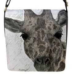 Giraffe Flap Closure Messenger Bag (small) by sdunleveyartwork