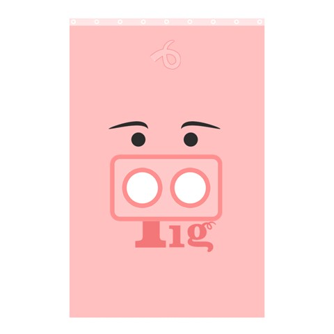 Pig By X   Shower Curtain 48  X 72  (small)   Znhpnt2z81rt   Www Artscow Com 42.18 x64.8 Curtain