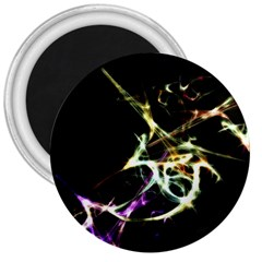 Futuristic Abstract Dance Shapes Artwork 3  Button Magnet by dflcprints