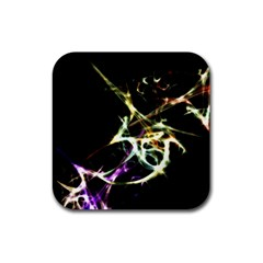 Futuristic Abstract Dance Shapes Artwork Drink Coaster (square) by dflcprints
