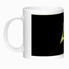 Futuristic Abstract Dance Shapes Artwork Glow In The Dark Mug by dflcprints