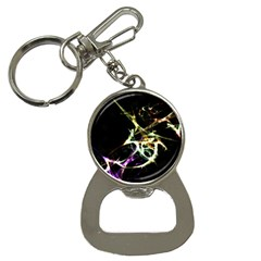 Futuristic Abstract Dance Shapes Artwork Bottle Opener Key Chain by dflcprints