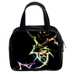 Futuristic Abstract Dance Shapes Artwork Classic Handbag (two Sides) by dflcprints