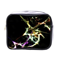 Futuristic Abstract Dance Shapes Artwork Mini Travel Toiletry Bag (one Side) by dflcprints