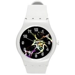 Futuristic Abstract Dance Shapes Artwork Plastic Sport Watch (medium) by dflcprints
