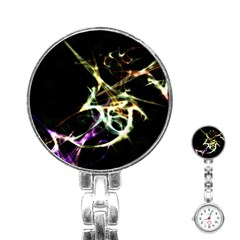 Futuristic Abstract Dance Shapes Artwork Stainless Steel Nurses Watch