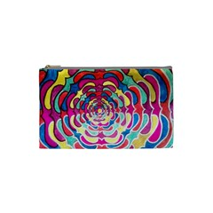 Trippy Flower Cosmetic Bag (small) by KristinaNWare