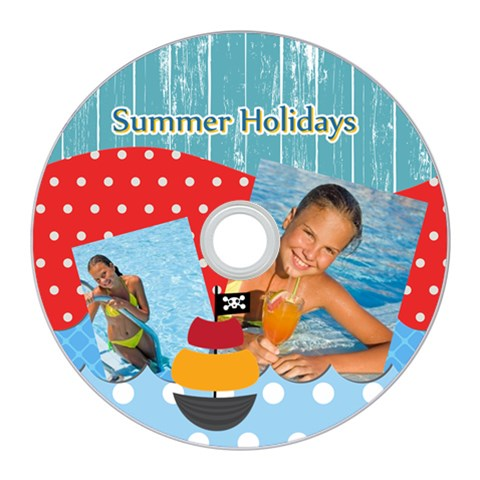Summer By Summer Time    Cd Wall Clock   Qfusglbnt7y3   Www Artscow Com Front