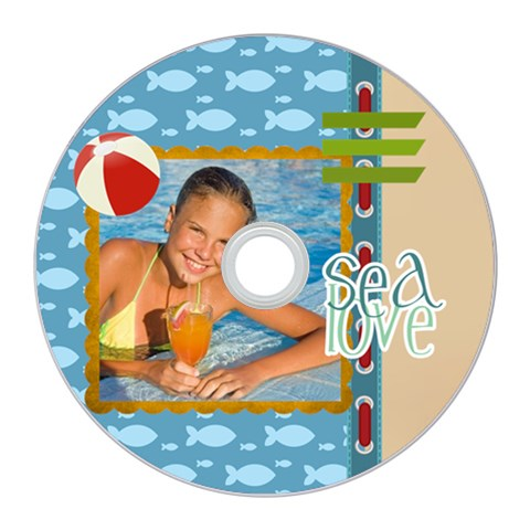 Summer By Summer Time    Cd Wall Clock   4mb6m5yxxn09   Www Artscow Com Front