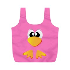 Bird By X   Full Print Recycle Bag (m)   Pzq4nbncddgh   Www Artscow Com Back