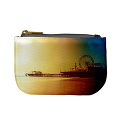 Santa Monica Pier Orange Sunrise Coin Change Purse by stineshop