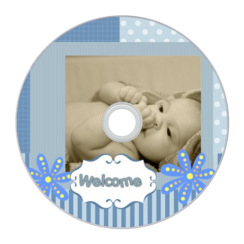 Baby By Baby   Cd Wall Clock   Y9hm0dqog2tj   Www Artscow Com Front